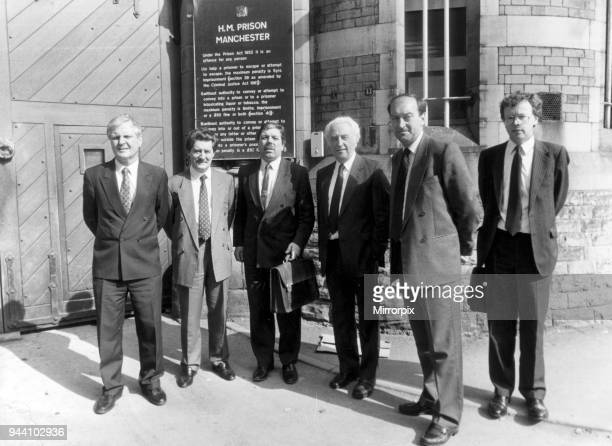 Strangeways Prison Riot 29th April 1990 Members of Home Affairs committee along with local MPs visit Strangeways Left to Right Joe Ashton Tony Lloyd...
