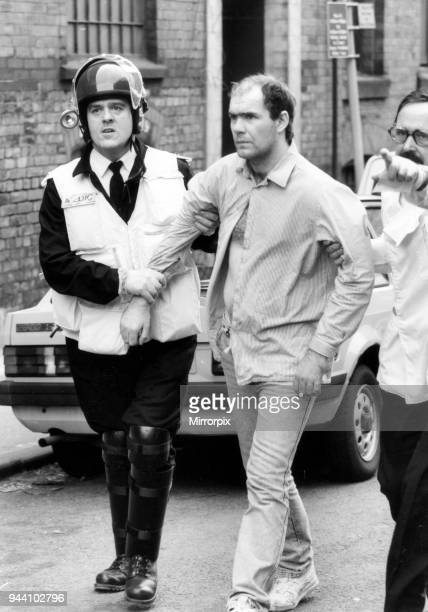 Strangeways Prison Riot April 1990 Prisoner is led away A 25day prison riot and rooftop protest at Strangeways Prison in Manchester England The riot...