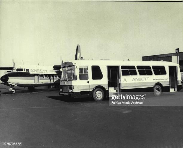 A Strap Hanging CoachA new type of tarmac coach for ferrying passengers from Aircraft to passenger terminal the first of it's type in use at...