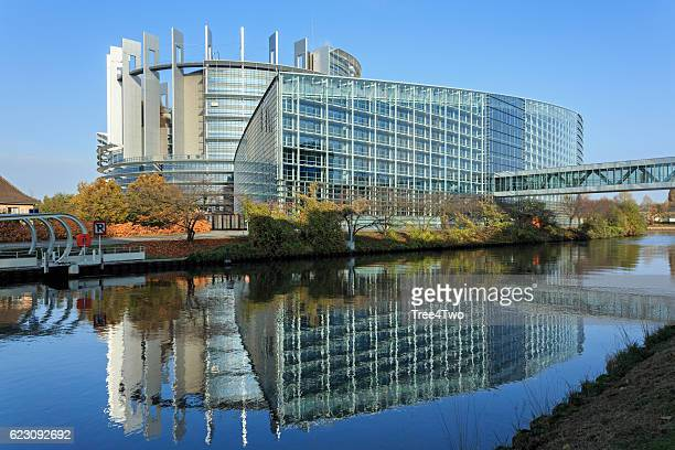 Strasbourg, Alsace: Building of the European Parliament (Louise Weiss Building)
