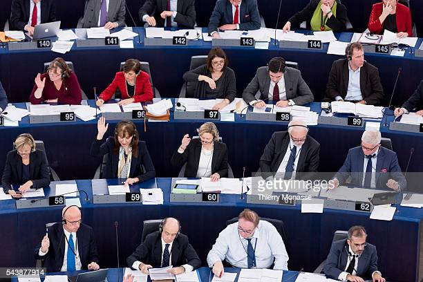 Strasbourg Alsace France December 17 2014 Session of the European Parliament in Strasbourg