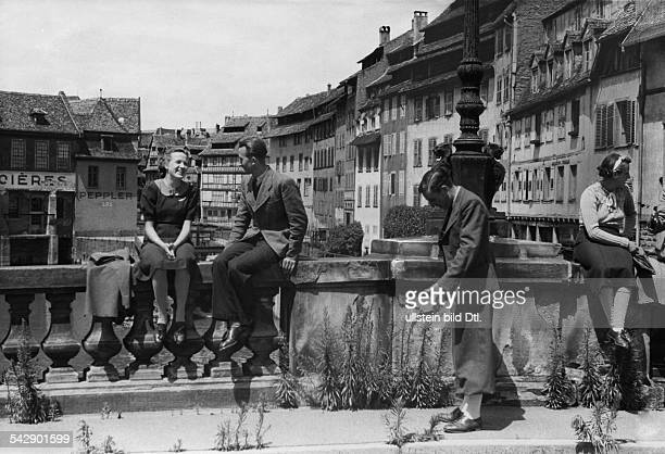 Strasbourg Alsace in 2 WW under german occupation all over within the interior city rampant weeds are to find the town had been evacuated by order of...