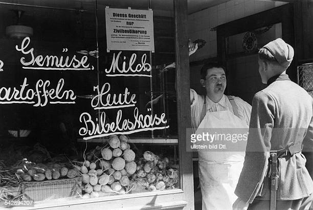 Strasbourg Alsace in 2 WW under german occupation Food store only allowed to sell to civil population of Strasbourg not to military personnel June...