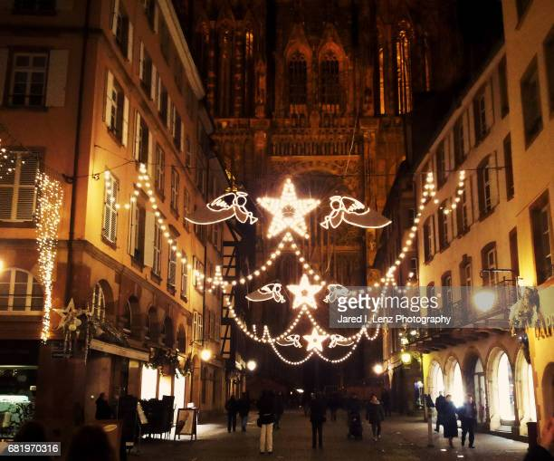 strasbourg (france) at christmas - cathedral stock pictures, royalty-free photos & images