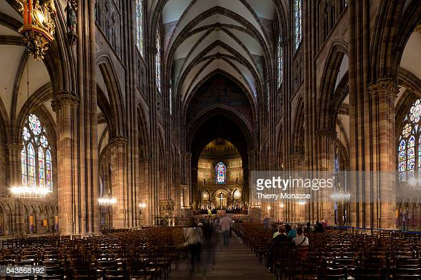 Strasbourg BasRhin Alsace France August 26 2014 The Cathedral of Our Lady of Strasbourg