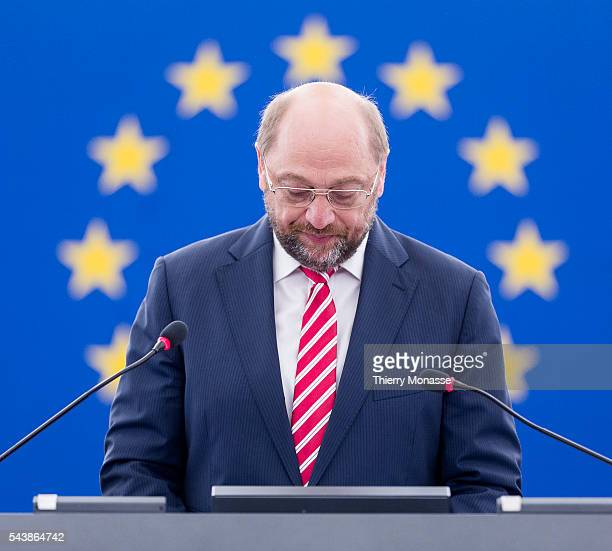 Strasbourg BasRhin Alsace France July 1 2014 Inaugural session of the European Parliament President of the European Parliament Martin SCHULTZ