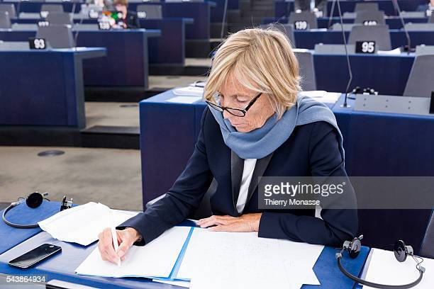 Strasbourg BasRhin Alsace France July 2 2014 Session of the European Parliament in Strasbourg French Member of the European Parliament Marielle de...