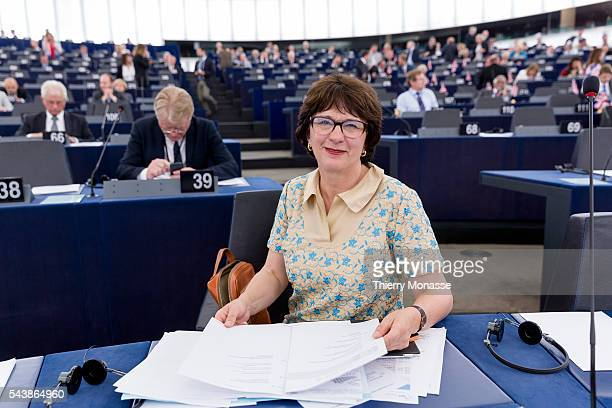 Strasbourg BasRhin Alsace France July 2 2014 Session of the European Parliament in Strasbourg Latvian Member of the European Parliament Group of the...
