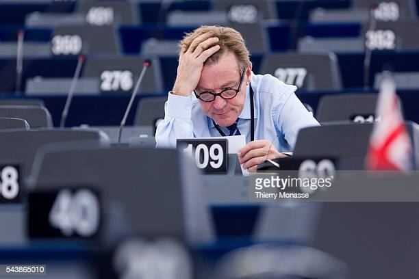 Strasbourg BasRhin Alsace France July 2 2014 Session of the European Parliament in Strasbourg Belgium Member of the European Parliament Johan VAN...