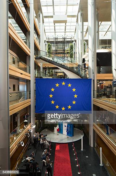 Strasbourg BasRhin Alsace France July 2 2014 Session of the European Parliament in Strasbourg The VIP entrance