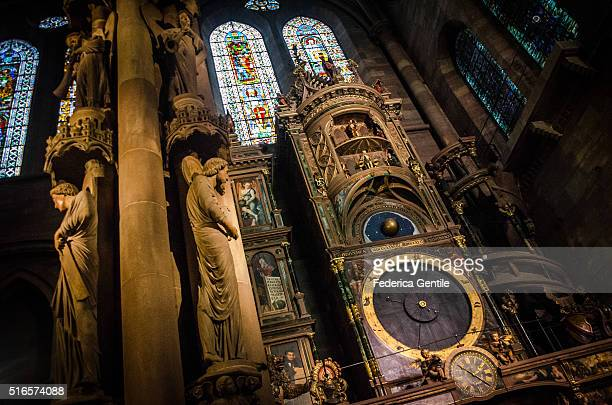 strasbourg cathedral - astronomical clock stock pictures, royalty-free photos & images