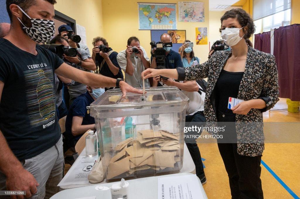 FRANCE-POLITICS-VOTE-MAYOR-2020 : News Photo