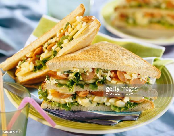 strasbourg club sandwich - club sandwich stock pictures, royalty-free photos & images