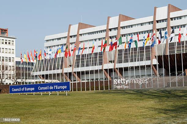 strasbourg - council of europe - council of europe stock pictures, royalty-free photos & images