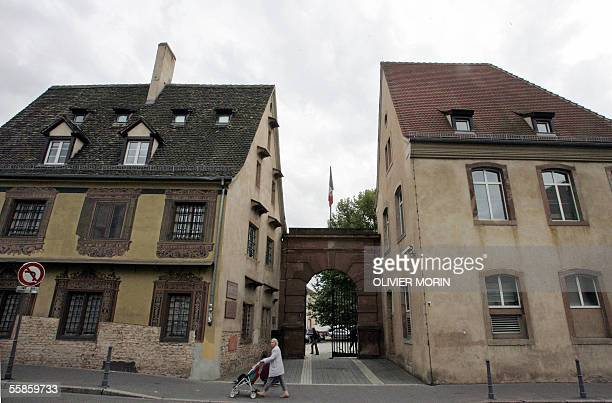 A picture taken 24 September 2005 shows an entrance of the premises of the ENA in Strasbourg eastern France The school which was created by a...