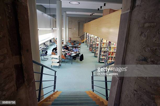 A picture taken 24 September 2005 shows the library of the ENA in Strasbourg eastern France The school which was created by a governmental decision...