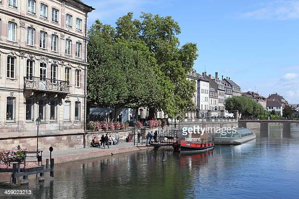 strasbourg, france - quayside stock pictures, royalty-free photos & images
