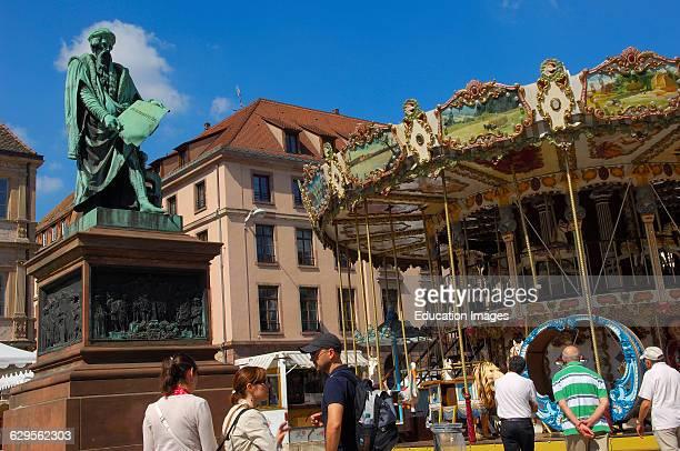 Strasbourg Gutenberg square UNESCO world heritage site Place Gutenberg Alsace Bas Rhin France Europe