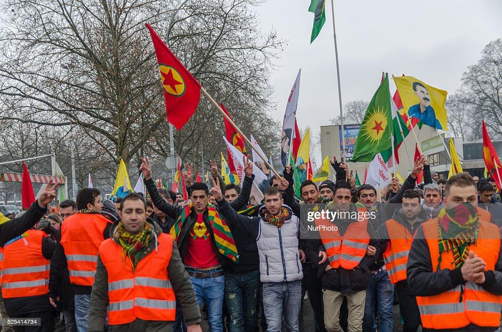Strasbourg Dome release Adbullah Ocalan : News Photo