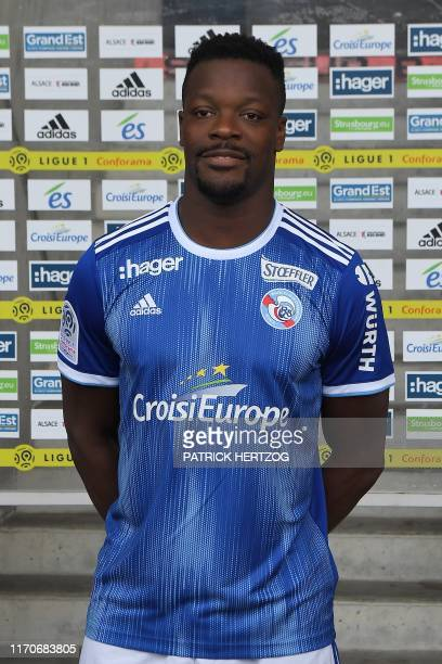 Strasbourg's French defender Lamine Kone poses for the L1 20192020 football season official picture on September 23 2019 at the Meinau stadium in...