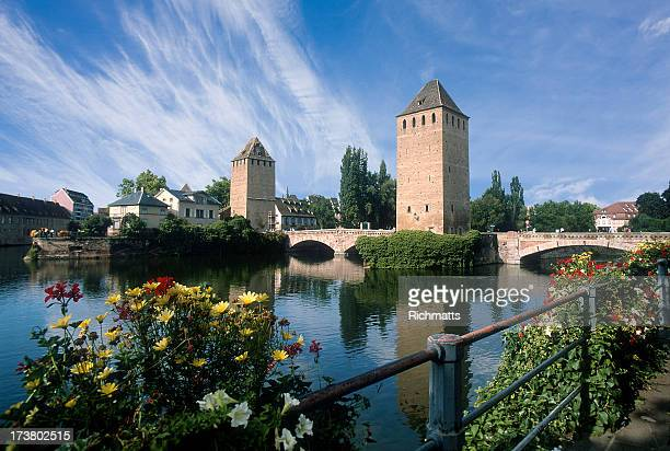 strasburg. pont couvert. france. - strasbourg stock pictures, royalty-free photos & images