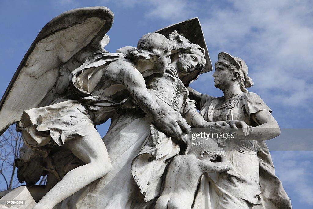 Strassburger-Denkmal memorial, Basel symbol of humanitarian aid : Stock Photo