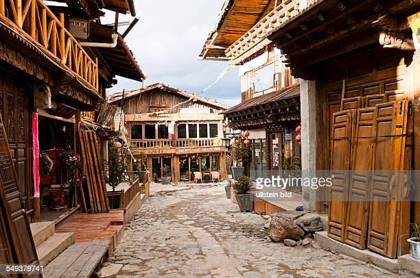 Strasse in der Altstadt von Zhongdian
