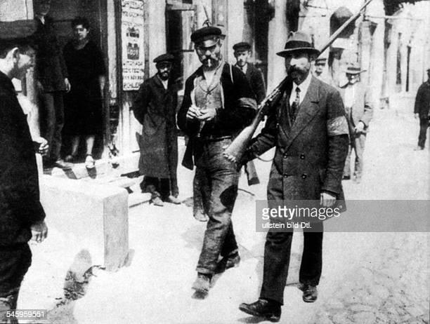 Strassenpatrouillen der Roten Armee während des Krieges mit PolenSommer 1920