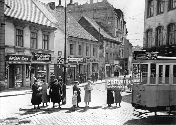 Strassenszene in Berlin Spandau Potsdamer Strasse 1935