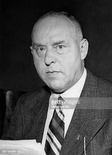 Strasser Gregor Politiker D Mitglied der NSDAP Portrait 1933