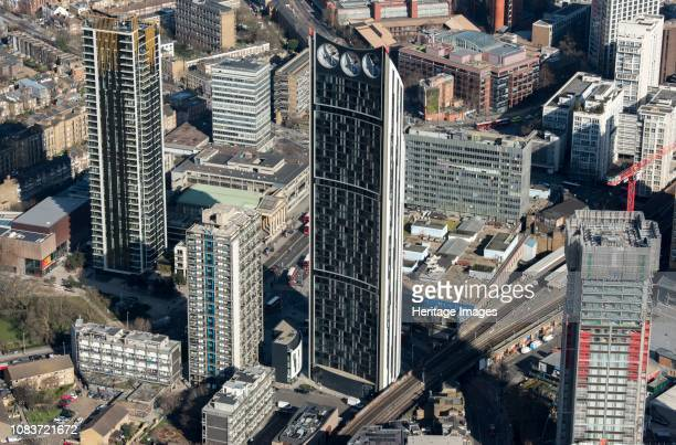 Strata SE 1 also known as 'the Razor' or 'Electric Razor' Newington London 2018 One of the tallest residential buildings in London the 43 floor...