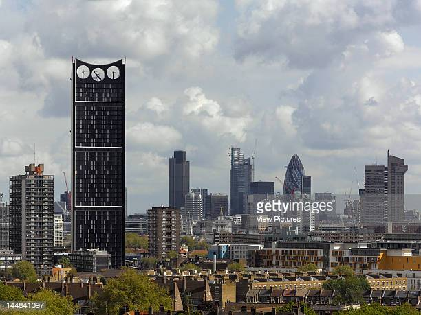 Strata Tower Elephant And Castle London Se1 United Kingdom Architect Bfls Strata Tower Bfls View With London City And Skyline 2010