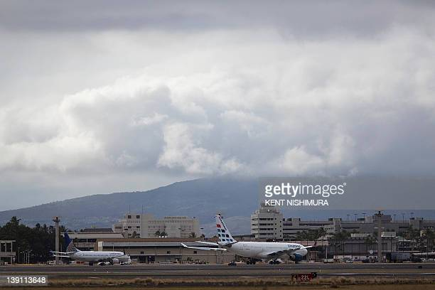 A Strategic Airlines plane is seen sitting on the tarmac at Honolulu International Airport on Thursday February 16 2012 in Honolulu Hawaii Budget...
