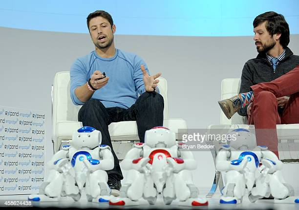 Strategic Partnerships/Developer Program Manger Americas Aldebaran Robotics James Dietrich and EditorinChief Engadget Michael Gorman speak at...