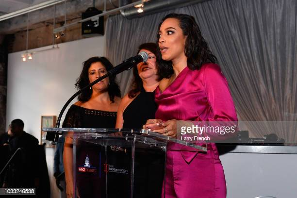 Strategies Angela Rye speaks at IMPACT Strategies and DP Creative Strategies Tech Media day party and brunch at Longview Gallery on September 14 2018...
