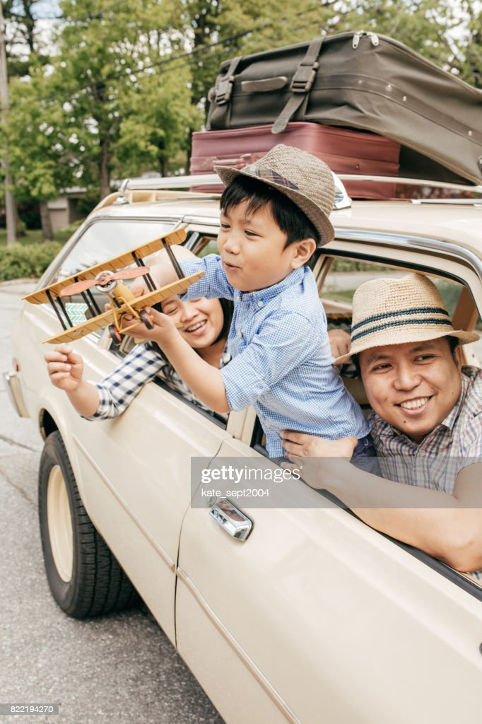 Strategies for fun family vacations : Stock Photo