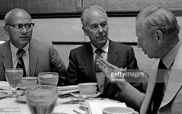 AUG 10 1971 AUG 11 1971 Strategists Talk Over Plans For National Western Stock Show's FundRaising Campaign From left are Harry Jensen captain of team...