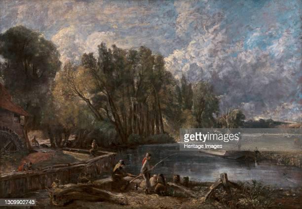 "Stratford Mill;""The Young Waltonians"";Stratford Mill on the River Stour;Stratford Mill, ""The Young Waltonians"", 1819 to 1820. Artist John Constable. ."