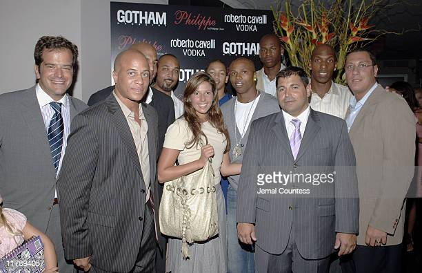 Stratis Morfogen owner of Philippe with Chris Brantley Keith Lyle Craig Williams Jennifer Dobbeck of Gotham Magazine Tyronn Lue Sebastian Telfair Al...