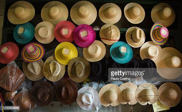 Straw and leather hats
