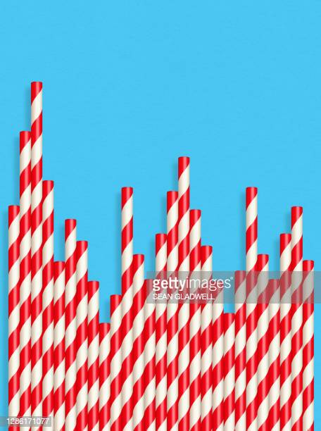 straw graph chart - bad luck stock pictures, royalty-free photos & images