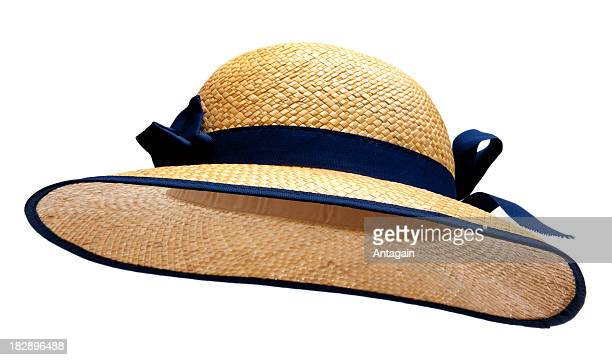 straw hat - straw hat stock pictures, royalty-free photos & images