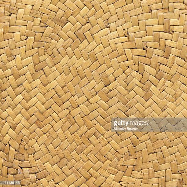 straw hat high resolution criss cross woven pattern - straw hat stock pictures, royalty-free photos & images