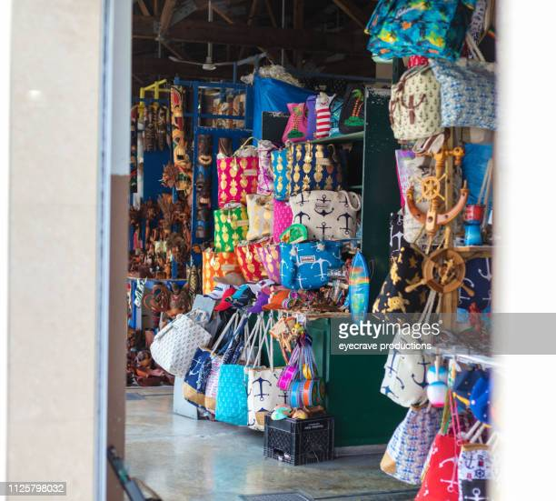 straw market nassau bahamas streets culture and marketplace - nassau stock photos and pictures