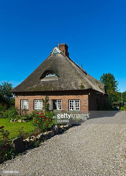 Straw Roof Housre in Schleswig Holstein at the Schlei