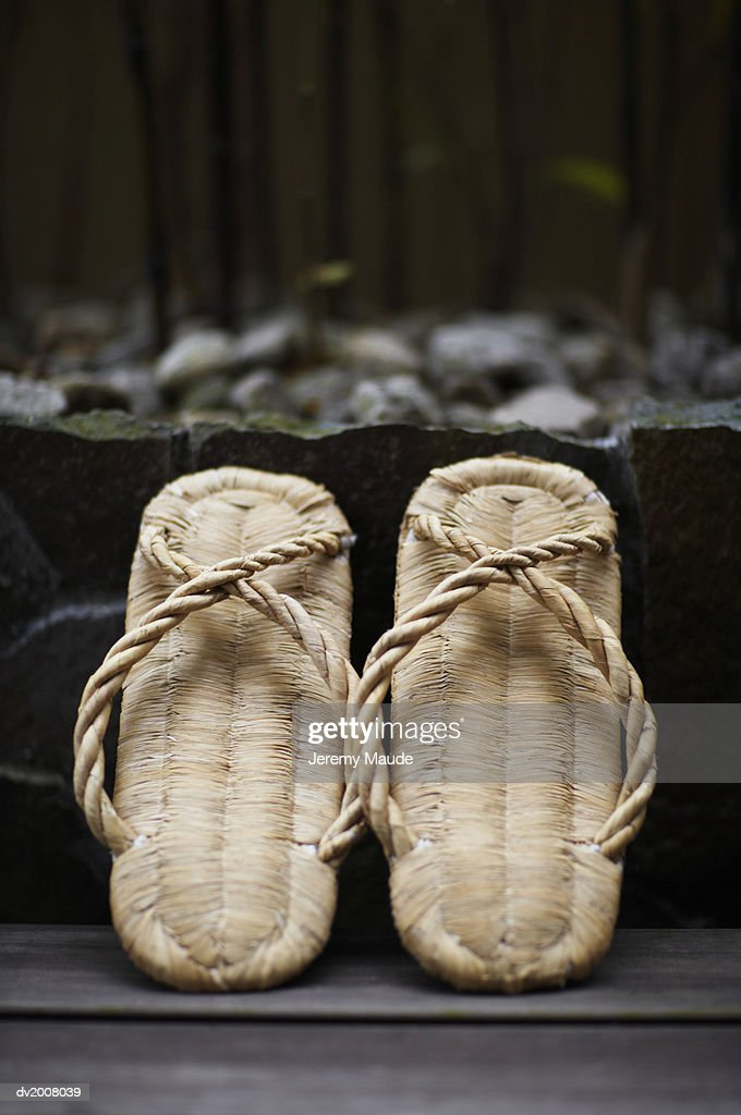 Straw Sandals : Stock Photo