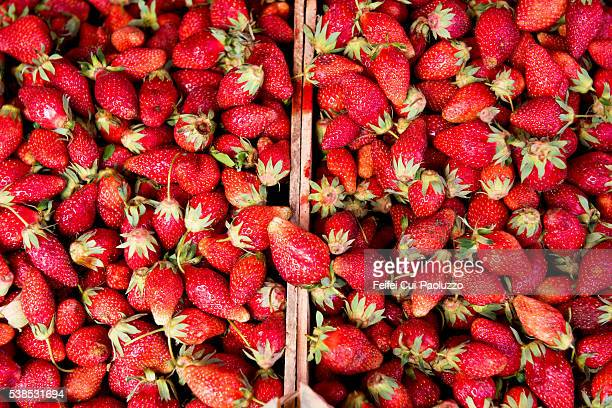 Strawberries at market of Batumi in Georgia