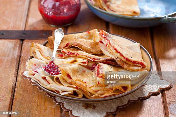 Des fraises crêpes