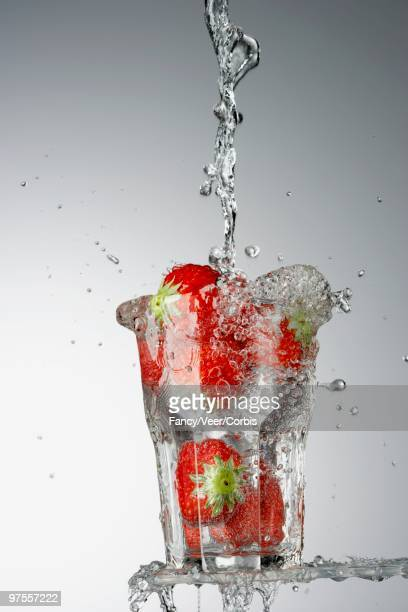 Strawberries in Drinking Glass