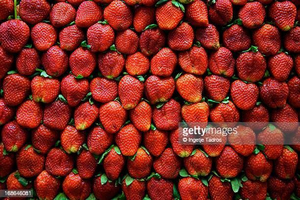 Strawberries on display